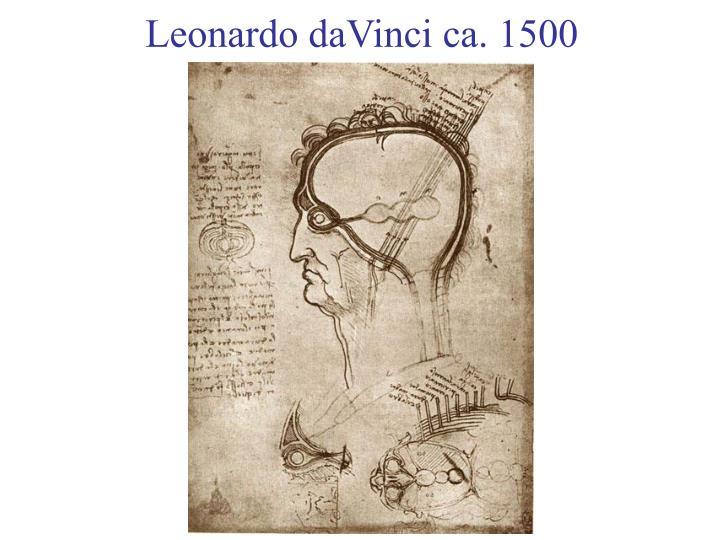 Leonardo daVinci ca. 1500