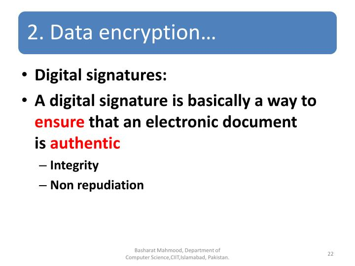 Digital signatures: