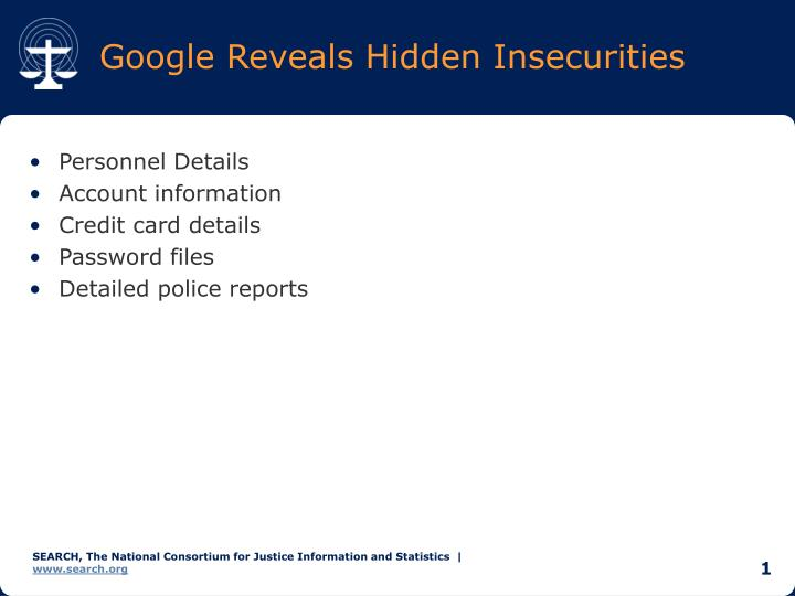 Google reveals hidden insecurities
