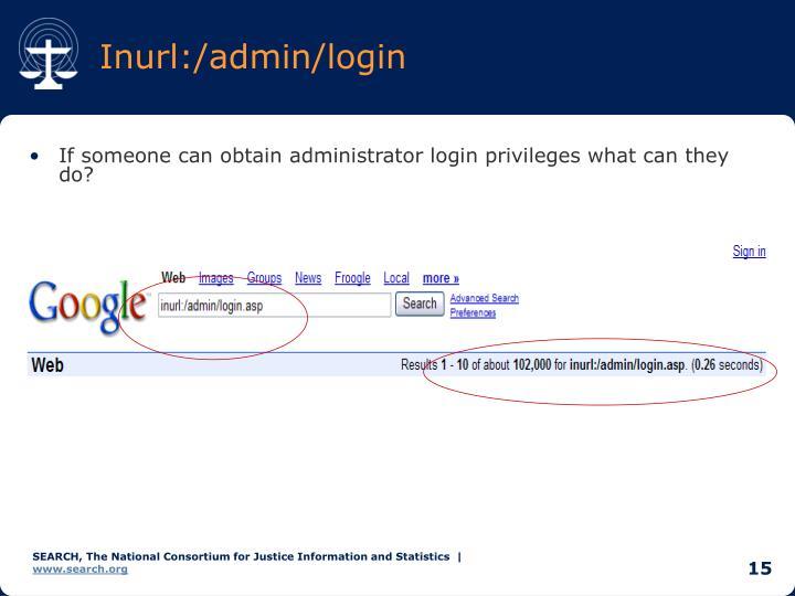 Inurl:/admin/login