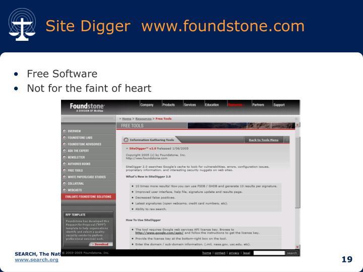 Site Digger  www.foundstone.com