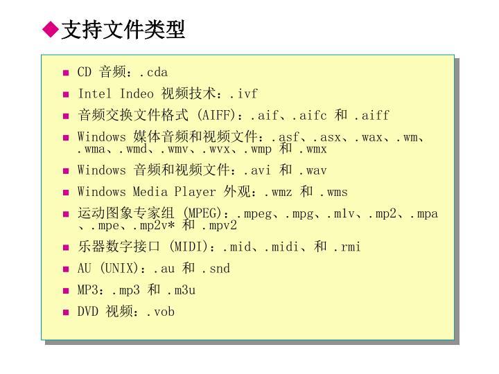 支持文件类型