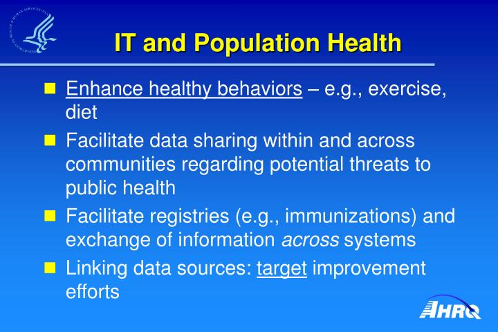 IT and Population Health
