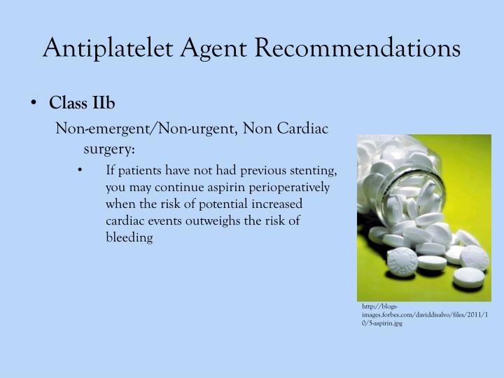 Antiplatelet Agent Recommendations