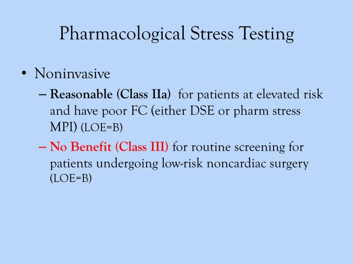 Pharmacological Stress Testing