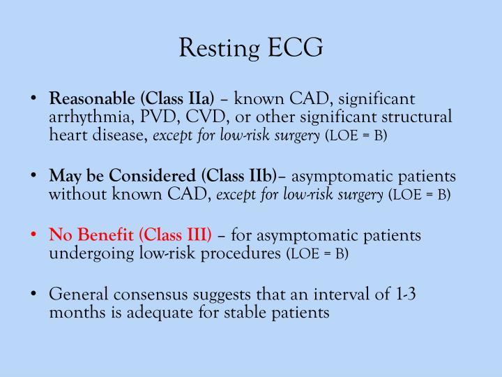 Resting ECG