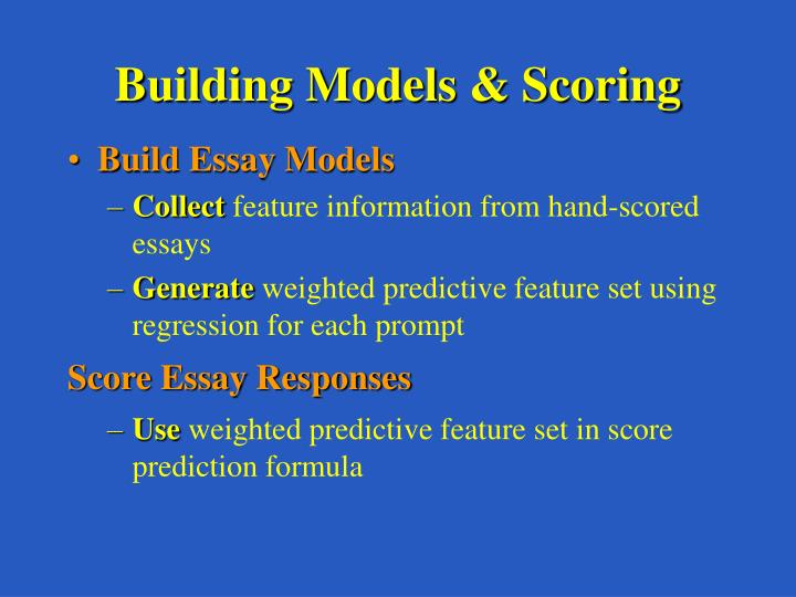 Building Models & Scoring