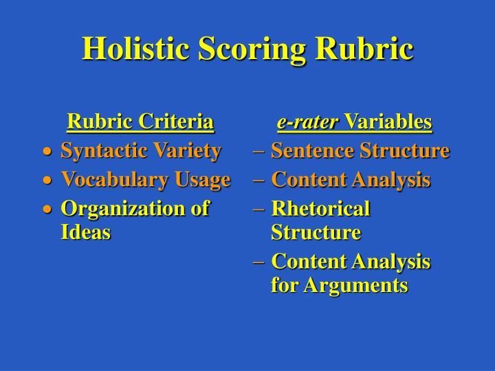 Rubric Criteria