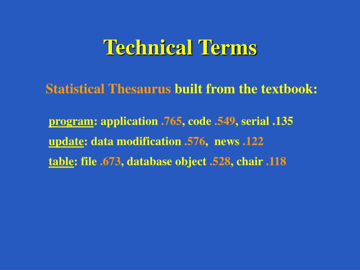 Technical Terms