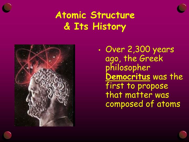 Atomic structure its history1
