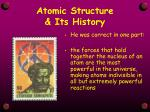 atomic structure its history3