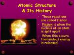 atomic structure its history4