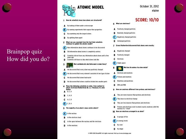 Brainpop quiz