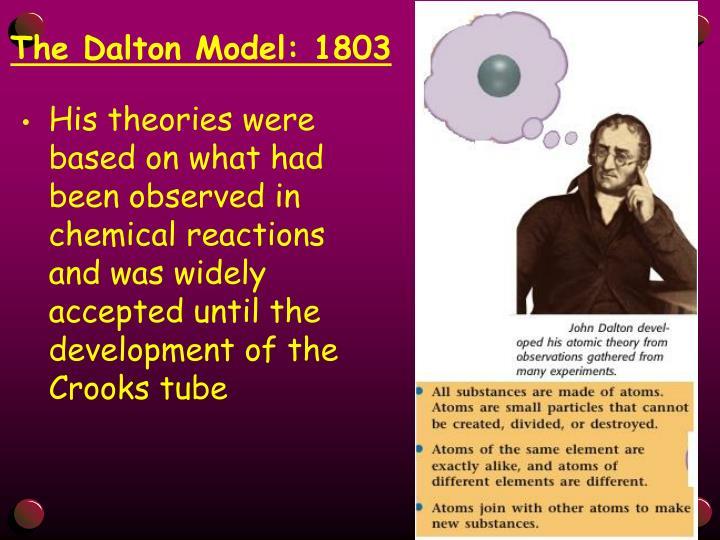 The Dalton Model: 1803