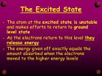 the excited state1