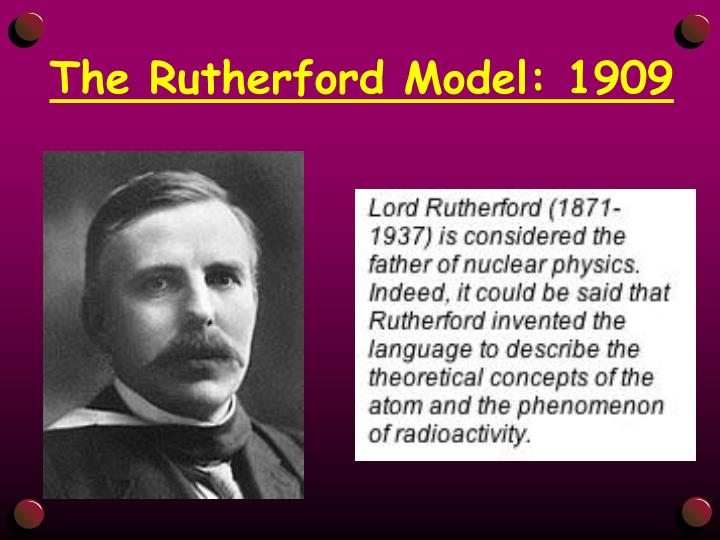 The Rutherford Model: 1909