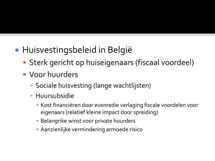 Huisvestingsbeleid in België