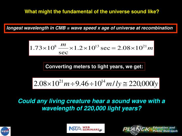 What might the fundamental of the universe sound like?
