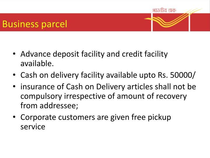 Business parcel