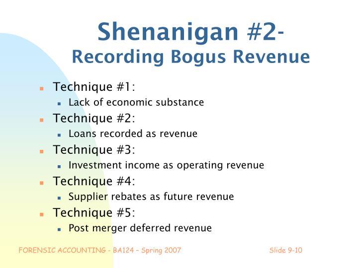 Shenanigan #2-