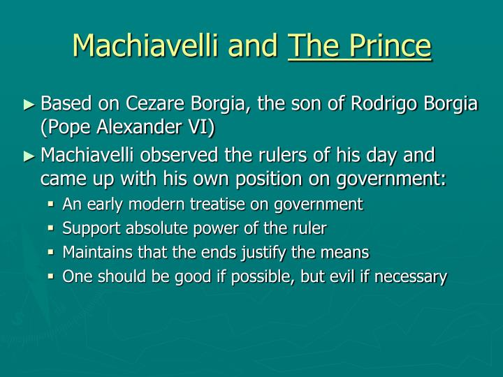 Machiavelli and
