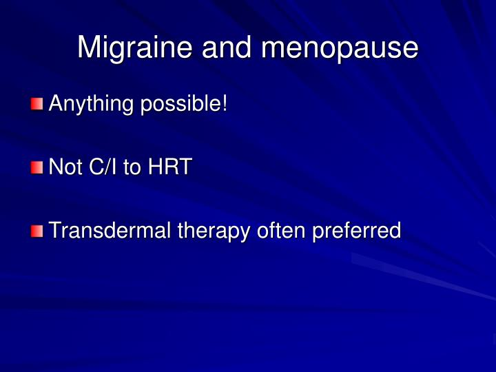 Migraine and menopause