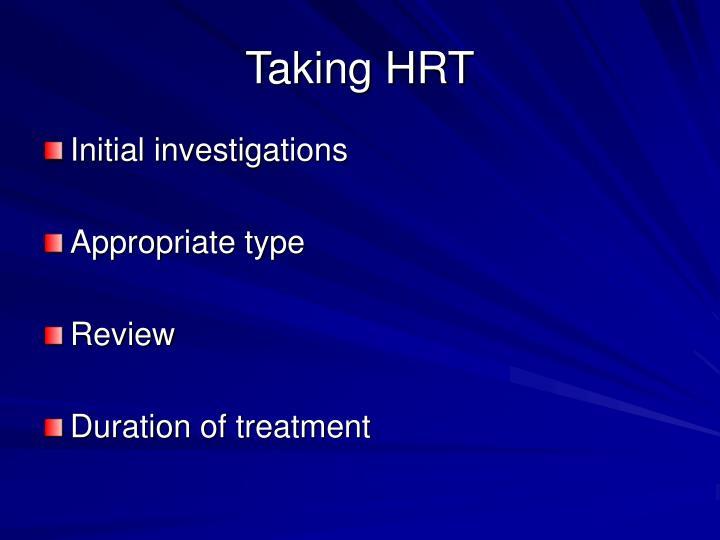 Taking HRT