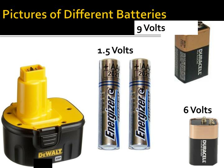 Pictures of Different Batteries