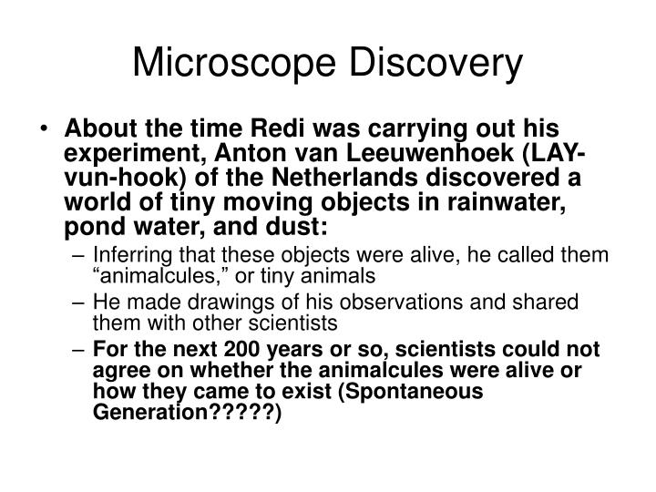 Microscope Discovery
