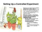 setting up a controlled experiment1