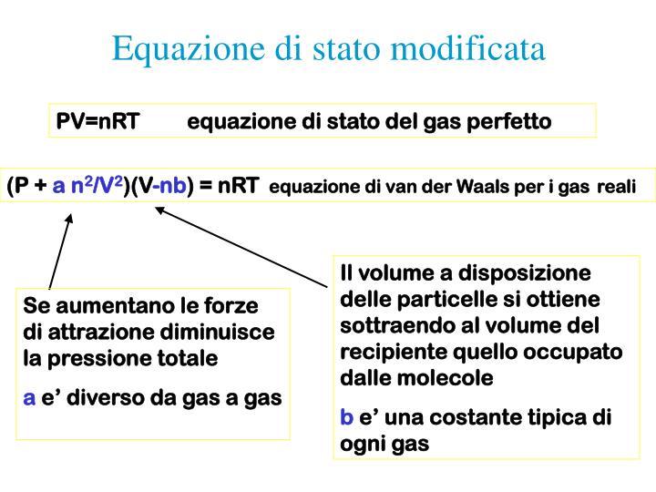 Equazione di stato modificata