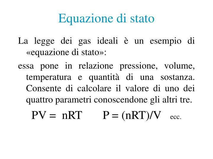 Equazione di stato