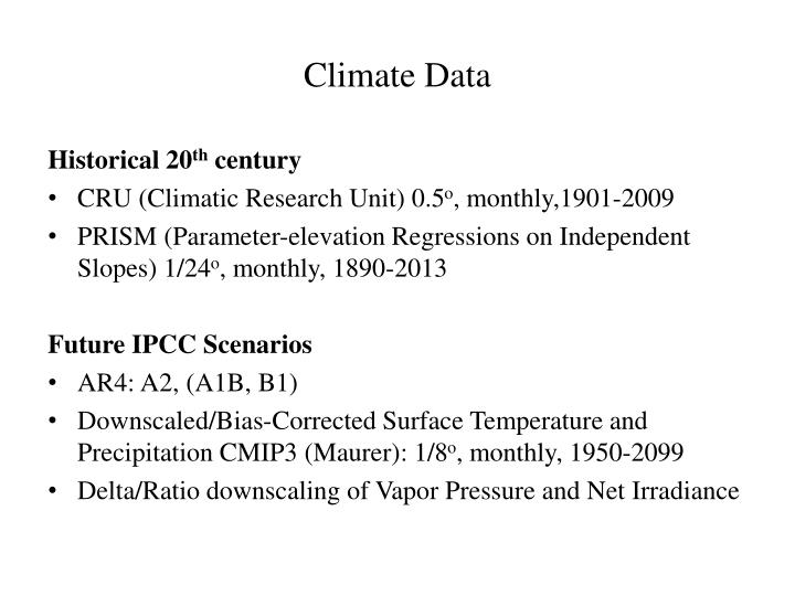 Climate Data