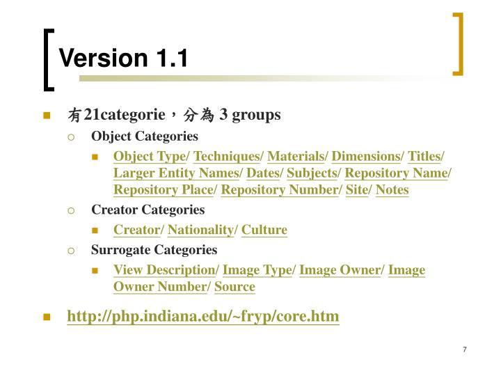 Version 1.1