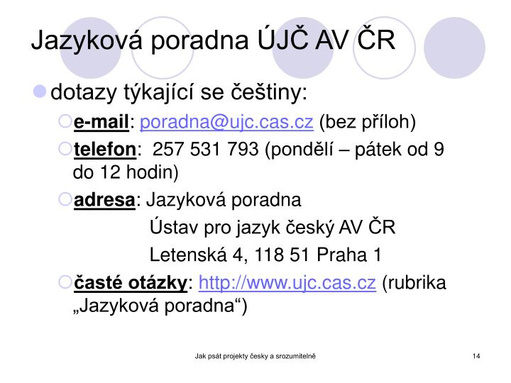 Jazyková poradna ÚJČ AV ČR