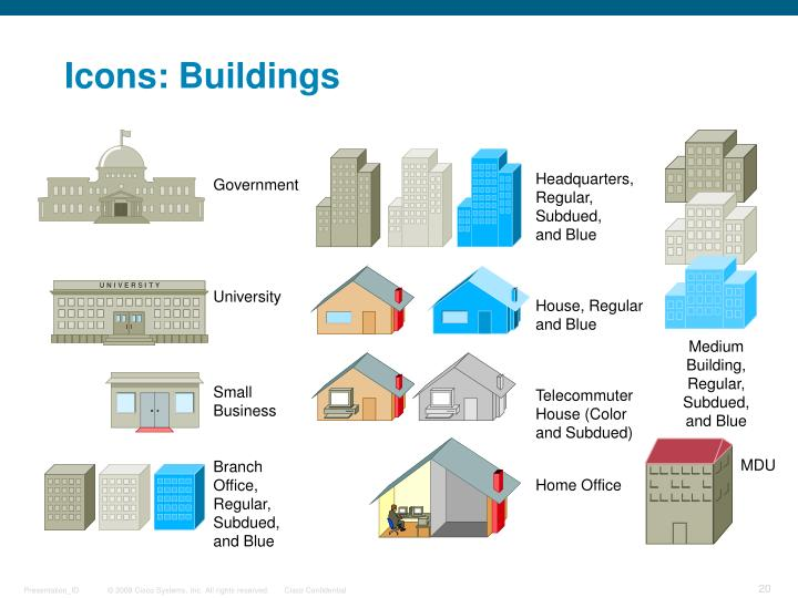 Icons: Buildings