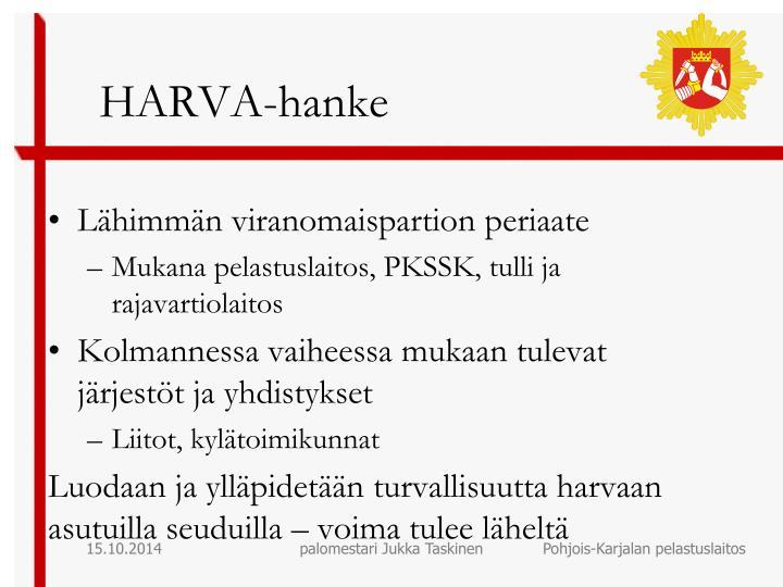 HARVA-hanke