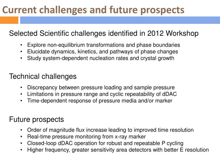 Current challenges and future prospects