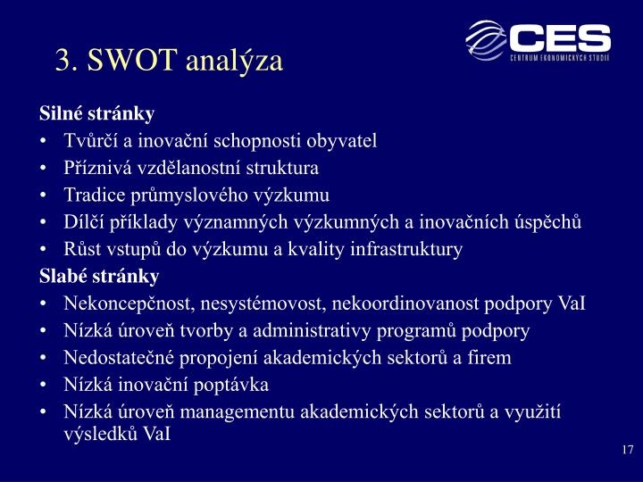 3. SWOT analýza