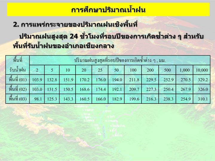 การศึกษาปริมาณน้ำฝน