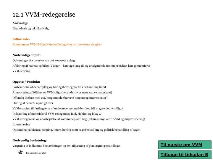 12.1 VVM-redegørelse