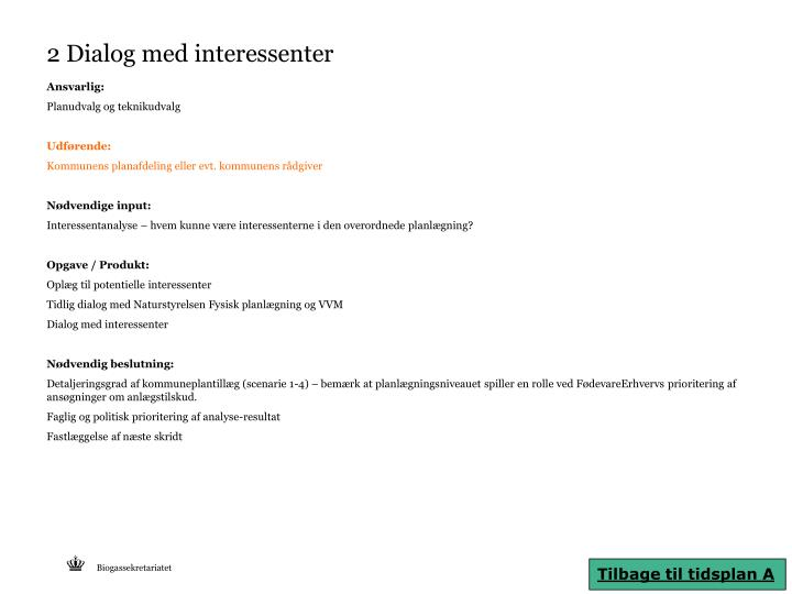 2 Dialog med interessenter