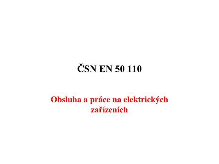 ČSN EN 50 110