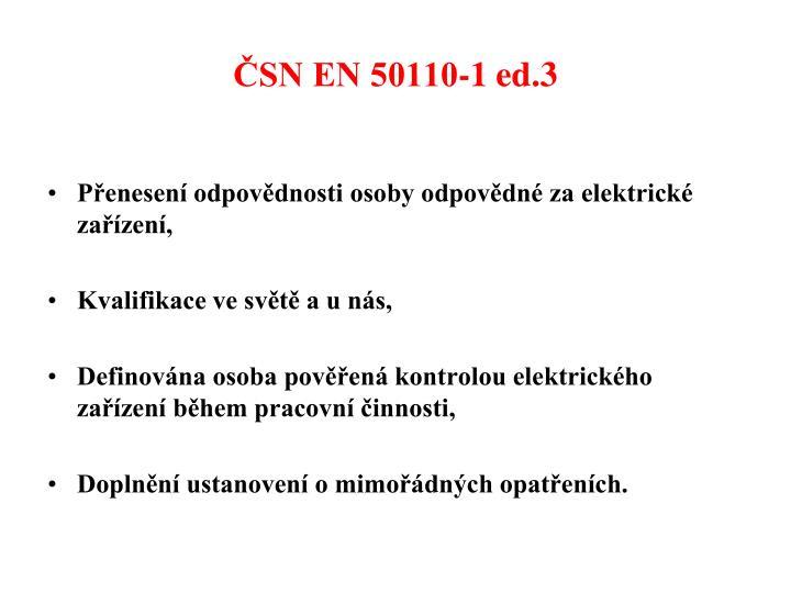 ČSN EN 50110-1 ed.3