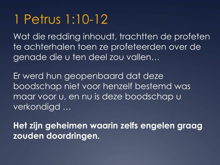 1 Petrus 1:10-12