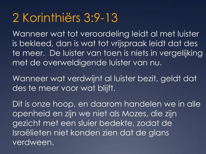 2 Korinthiërs 3:9-13