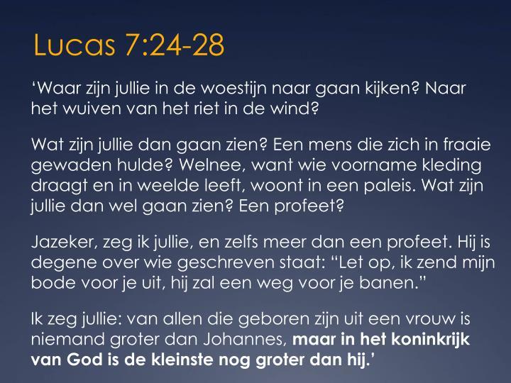 Lucas 7:24-28