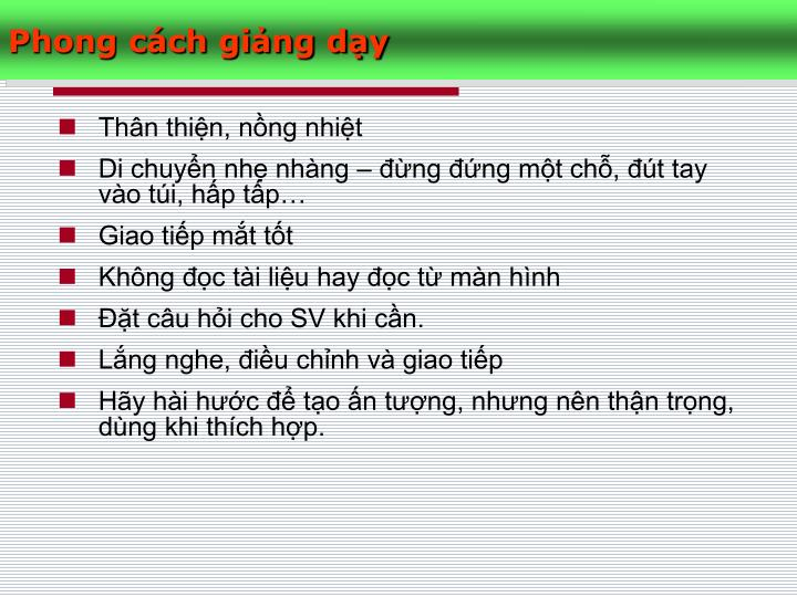 Phong cch ging dy