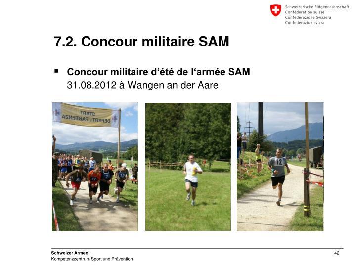 7.2. Concour militaire SAM