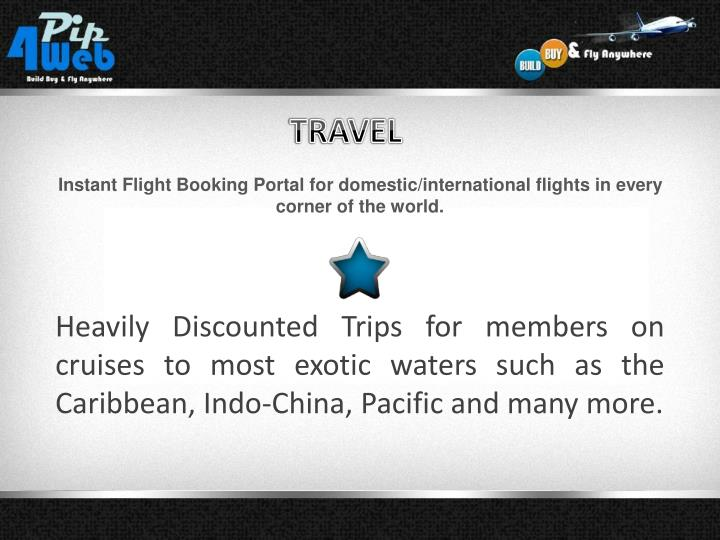 Instant Flight Booking Portal for domestic/international flights in every corner of the world.